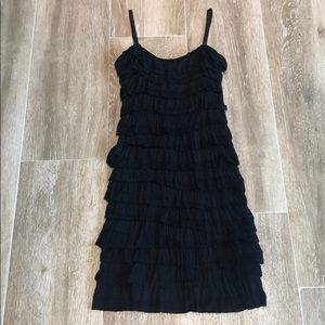 Dresses & Skirts - *SALE* BODY HUGGING RUFFLE DRESS. FITS A SMALL.